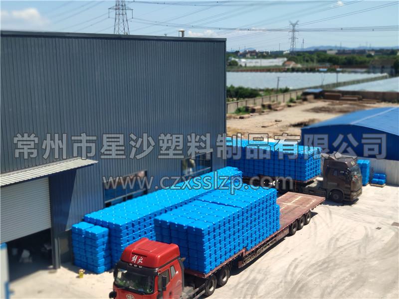 常州市星沙塑料制品有限公司-安徽亳州1M*1M*0.4M大浮筒发货2