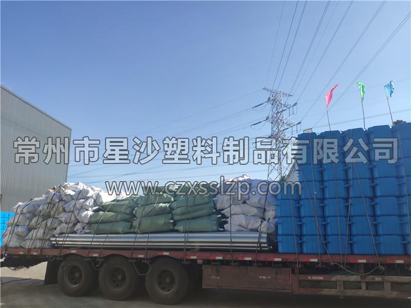 常州市星沙塑料制品有限公司-安徽亳州1M*1M*0.4M大浮筒发货10
