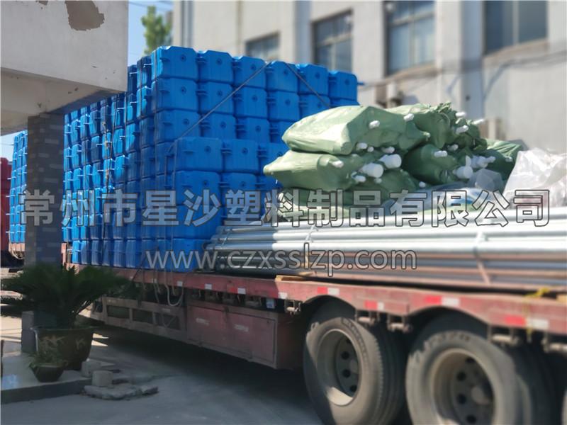 常州市星沙塑料制品有限公司-安徽亳州1M*1M*0.4M大浮筒发货4
